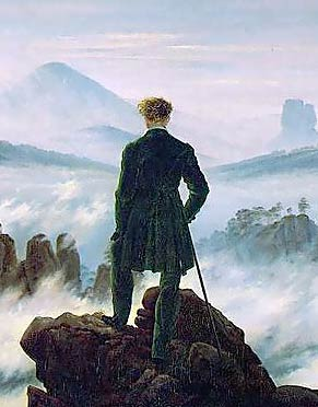 Caspar David Friedrich, Wanderer Above the Mist, 1818 (detail)