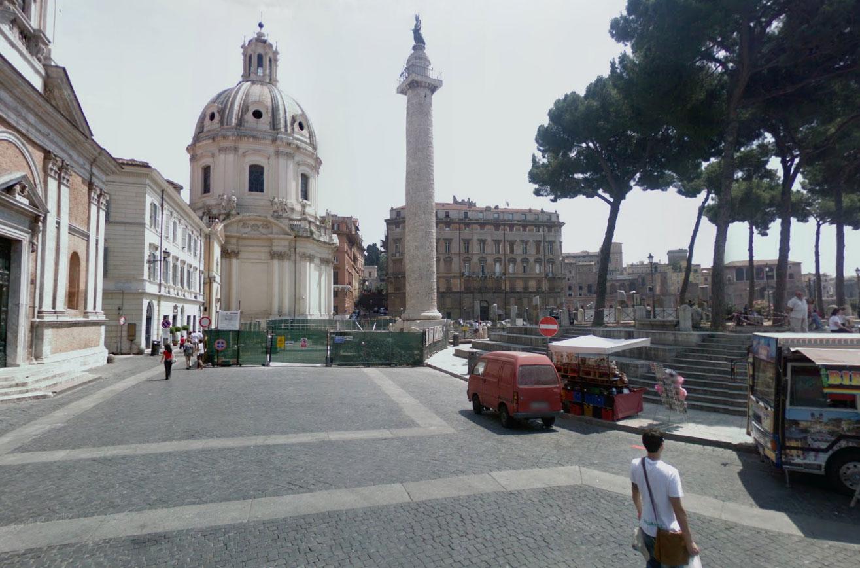Claude Closky, Screen Shot, Foro Traiano - Piazza della Madonna di Loreto - Via dei Fori Imperiali, Rome, Italia