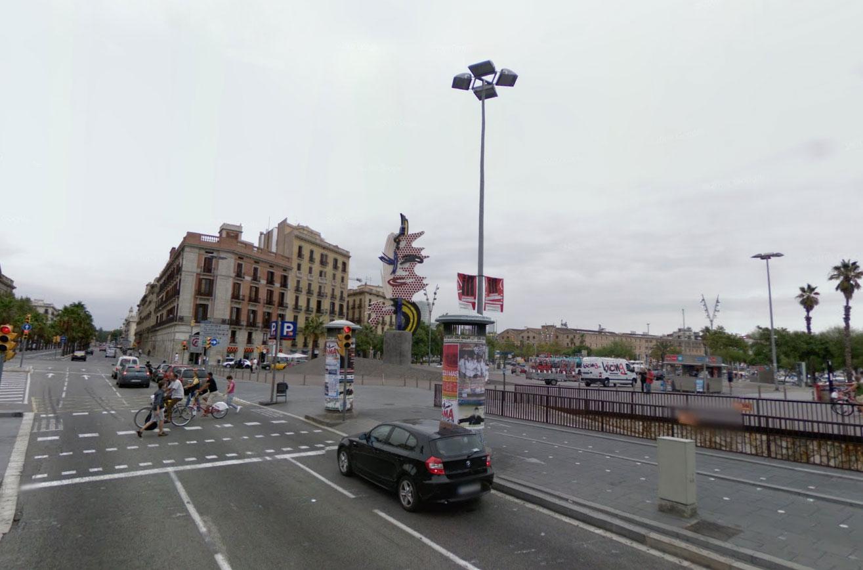 Claude Closky, Screen Shot, Passeig de Colom, Barcelona, Espanya, Roy Lichtenstein, The Head, 1991-1992