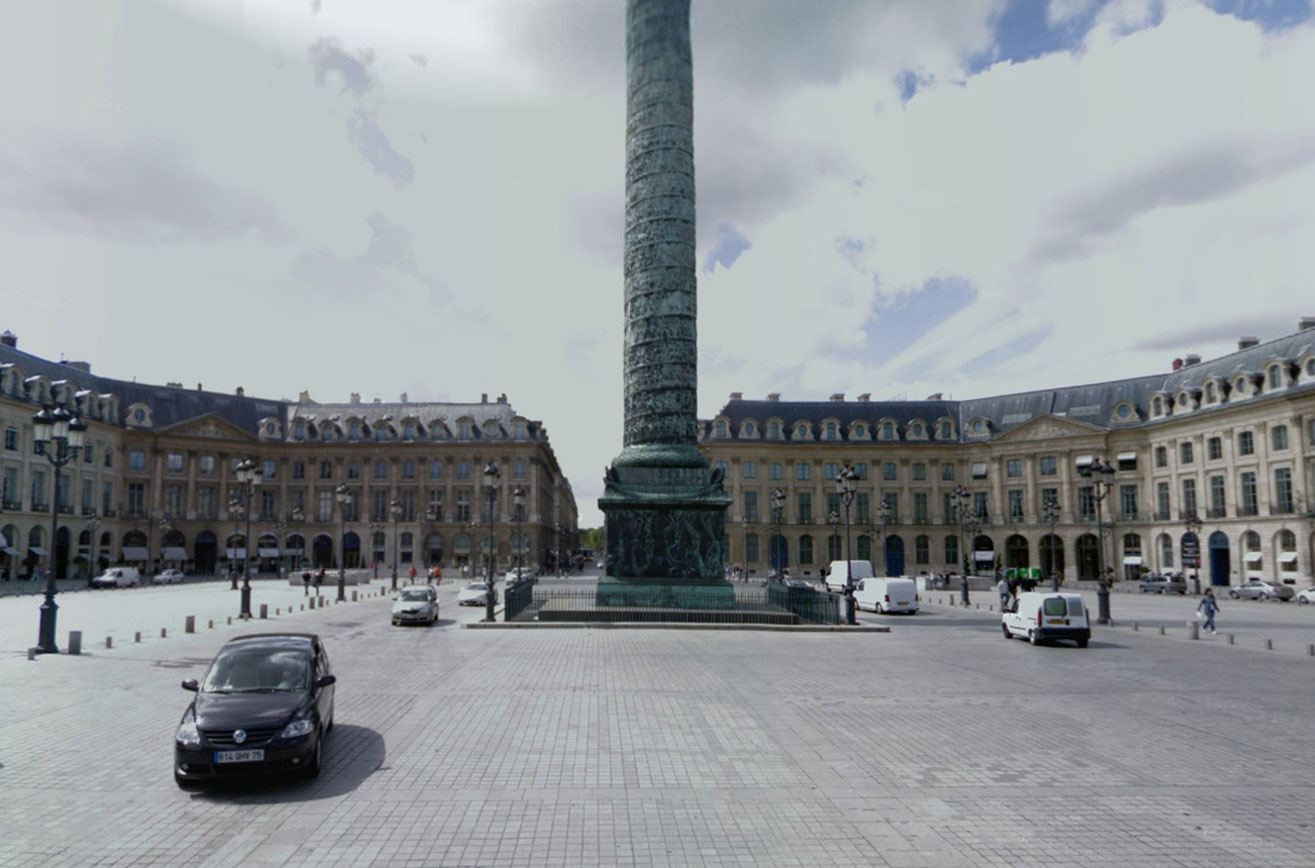 Claude Closky, Screen Shot, Place Vendôme, Paris, France